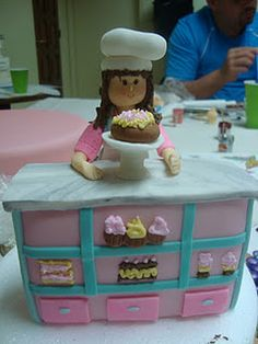 Pastry Chef made out of gum paste