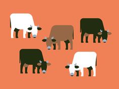 Creative Milk, Chad, Eye, View, and Illustration image ideas & inspiration on Designspiration Creative Illustration, Flat Illustration, Character Illustration, Cow Icon, Cow Logo, New Years Poster, Cow Art, Art Graphique, Pictogram