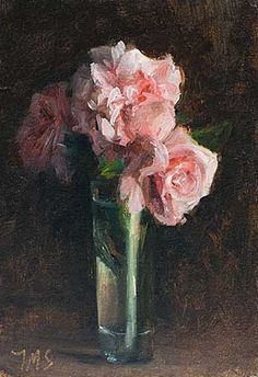 Daily painting titled  Roses in a vase