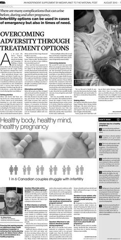 National Post - Media Planet - Infertility and Adversity feature Overcoming Adversity, My Resume, Media Campaign, In Case Of Emergency, Healthy Mind, Print Ads, Digital Media, Fertility, Pregnancy