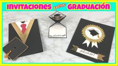 INVITACIONES PARA GRADUACIÓN | CREATIVA OFFICIAL 👩🏻‍🎓👨🏻‍🎓🎨❤️ Lindas Invitaciones-Tarjetas para graduación súper fáciles de hacer. #tarjetas #graduación #invitacionesdegraduacion  #invitaciones #tarjetaspersonalizadas #creativaofficial #graduation #graduationparty #diy Ideas Paso A Paso, Tarjetas Diy, Origami, Playing Cards, Greeting Cards, Etsy, Youtube, Paper, Graduation Cards