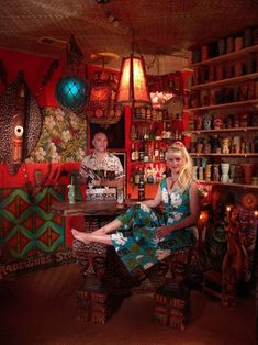 Tiki lounge with Baby Doe & Otto (two of my favorite people)  Funny to find them on pinterest.