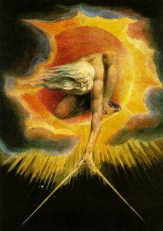 Ancient Days Watercolor, William Blake