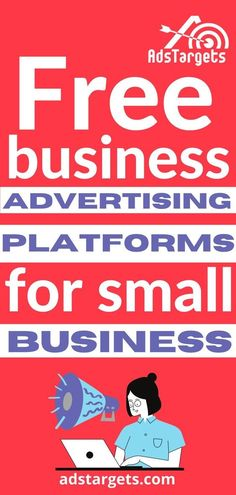 In this blog post, you will learm the most popular and important free business advertising online platforms to help small businesses grow for free. #onlineadvertising Business Pages, Business Marketing, Content Marketing, Social Media Marketing, Online Advertising, Online Marketing, Digital Marketing, Advertise Your Business, Facebook Business