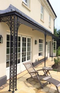 Enjoy your garden all year round with one of our timeless veranda's. Our Georgian design ironwork compliments both modern and period properties and adds character to any home! Wrought Iron Gates, Lean To, Georgian, Google Images, Canopy, Craftsman, Restoration, Patio, Balconies