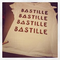 Made a Bastille shirt! Turned out pretty good if I say so myself. **didn't use method in pin**  Original -- http://pinterest.com/pin/66076319505639931/
