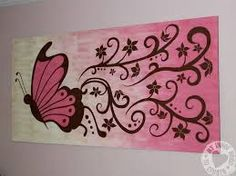 Butterfly painting ideas beautiful butterfly painting on canvas Acrylic Painting Flowers, Easy Canvas Painting, Simple Acrylic Paintings, Diy Canvas, Easy Paintings, Painting For Kids, Painting & Drawing, Canvas Art, Canvas Paintings