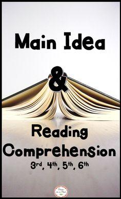 111 best main idea images reading comprehension reading skills rh pinterest com