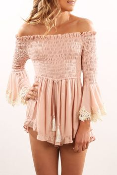Joseph Playsuit Dusty Pink