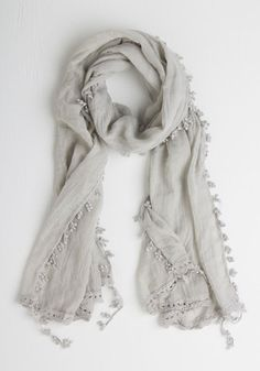 Appreciate the Allure Scarf in Grey From The Plus Size Fashion Community At www.VintageAndCurvy.com