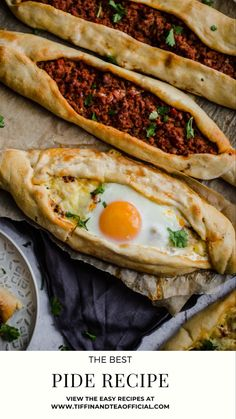 Greek Recipes, Turkish Food Recipes, Ethnic Recipes, Middle Eastern Recipes, Middle Eastern Food, Uzbek Food Recipe, Turkish Pide Bread Recipe, Pide Recipe, Brunch Recipes
