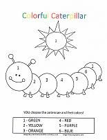 caterpillar coloring pages printable preschool looking for color by number coloring pages for - Color Activity For Kindergarten