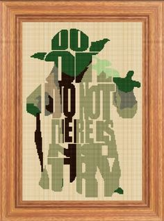 Cross stitch pattern custom made for you Star Wars - Yoda.  PLEASE READ CAREFULLY BEFORE YOU BUY! VERY LARGE MODEL !!!  Computer Generated Pattern! Digital computer model - not printed on paper. This is a pattern only! Not a kit or finished piece! No fabric or floss are included in this listing!  This is NOT a finished cross stitch. The pattern includes a color legend for DMC pearl cotton. This pattern arrives as an Instant Download! A few minutes after your payment is processed, youll…