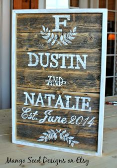 Nice!!  I want to do my first pallet like this one.  Love the frame/matching paint and good font choices