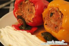 Hungarian stuffed peppers (ardei umpluti) – Famous Last Words Sicilian Recipes, Hungarian Recipes, Greek Recipes, Hungarian Food, Romanian Recipes, Hungarian Stuffed Peppers, Romanian Food, India Food, Ravioli