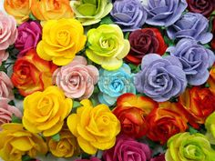 100 Rainbow Mulberry Paper flower scrapbook by thaipaperflower, $18.25. This is a steal. Most flowers are sold for a buck a piece this nice.
