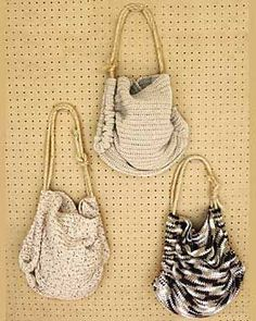 Sugar'n Cream Naturals - Summer Totes crochet pattern.