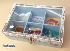 Trinket Box made with the @bobunny Boardwalk Paper Collection. Supplies available at our Ben Franklin Crafts store in Monroe, WA http://www.bfranklincrafts.com/HomeMonroe.html #crafts #DIY #BoBunny