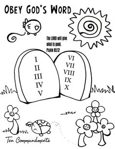 OBEY GOD ALWAYS coloring page - Google Search