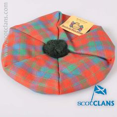 Robertson Ancient Wool Tartan Tam. Free worldwide shipping available