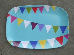 Melamine Party Flags Platter. $22.00, via Etsy.