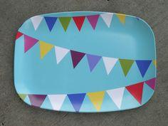 Melamine Party Flags Platter. $22.00, via Etsy.