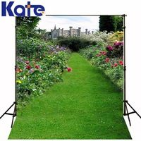 300Cm*200Cm(About 10Ft*6.5Ft)T Background Flowers And Castle Road Photography Backdropsthick Cloth Photography Backdrop 3054 Lk