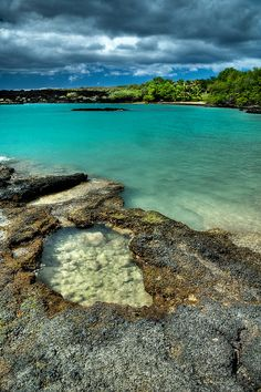 La Perouse bay - Maui, Hawaii. Go early enough in the morning and you catch a glimpse of the dolphins.