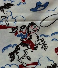 SALE Cowboy Boy Quilt Vintage Retro by TracyBugQuilts on Etsy