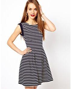 French Connection Stripe Skater Dress
