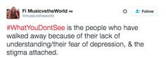 The way it can reveal who your true friends are:   19 Tweets That Perfectly Sum Up The Struggles Of Depression