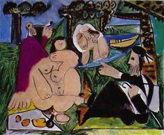 Picasso - Le déjeuner sur l'herbe - après Manet