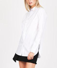 CRISP WHITE LONG SLEVE SHIRT   Shirts   Tops   Clothing   Shop Womens   General Pants Online
