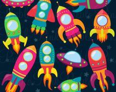 Retros cohetes Clip Art Clipart, vectores de la nave espacial Rocketship espacio nave espacial Clipart Clip Art - comercial y para uso Personal