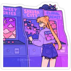 Sailor Moon Aesthetic, Aesthetic Art, Aesthetic Anime, Aesthetic Pastel, Arte Do Kawaii, Kawaii Art, Arte Copic, Sailor Moon Wallpaper, Sailor Moon Art
