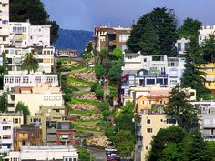 One of the stragest streets in the world! this is Lombart street in San Francisco