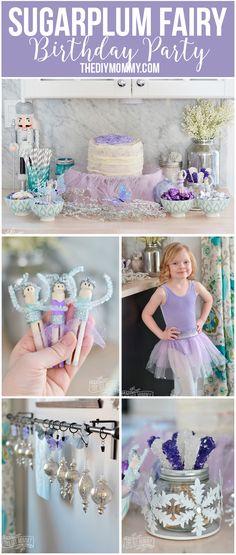 A Sugarplum Fairy Birthday Party + DIY Glittery Ombre Tutu Skirt Video http://thediymommy.com/?p=8644