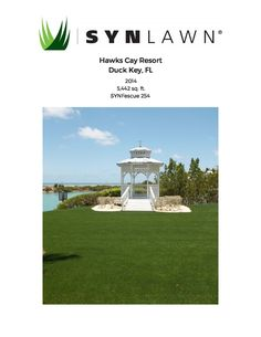 This SYNLawn #TBT features a beautiful install of our SYNFescue 254 at Hawks Cay Resort done by EasyGrass.Net! http://www.synlawn.com/wp-content/uploads/2016/01/Hawks-Cay-Resort.pdf #NationalWeddingsMonth #wedding #venue #SYNLawn #SF254 #artificialgrass #FL