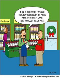"""This is our very popular """"Holiday Cabernet."""" It pairs well with beef, lamb, and difficult relatives."""
