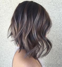 Ash Brown Balayage Bob More