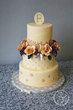 Wedding Cake by Ritika Verma made as part of The French Pastry School's L'Art du Gâteau program.