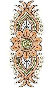 3140 Anarkali Dresses Applique Embroidery Design