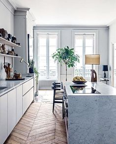 19th century apartment with modern decoration in Lyon. Photography by Felix Forest for Vogue Australia.