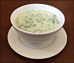 Sopa Creme de Batata Doce e Espinafre