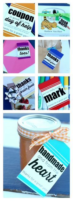 TOP 10 Teacher Gifts - we asked teachers to share their favorite and most useful gifts and this is the Top 10 list!! Cute ideas for all price ranges and FREE PRINTABLES for cards and gift tags. www.lets-get-together.com #teachergifts