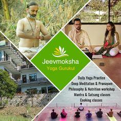 Jeevmoksha in Rishikesh, India conducts yoga teacher training duly certified by Yoga Alliance. Yoga Courses, Yoga School, Deep Meditation, Rishikesh, Good Mental Health, Body Confidence, Daily Yoga, Higher Consciousness, Yoga Teacher Training