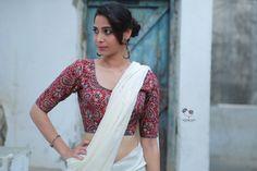 Maroon Kalamkari Cotton Blouse
