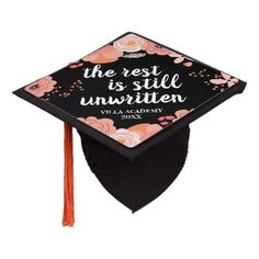 Unwritten | Custom Class Year Graduation Cap Topper - pink gifts style ideas cyo unique