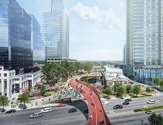 Galería de Un parque público sobre una autopista buscará unificar Atlanta - 2