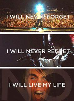 """I WILL NEVER FORGET...I WILL NEVER REGRET...I WILL LIVE MY LIIIIIIIFE!!!!!"" 30STM ""Closer To The Edge"" lyrics <3"